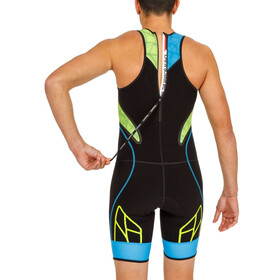 KiWAMi Spider WS1 Trisuit Men black/blue/lime
